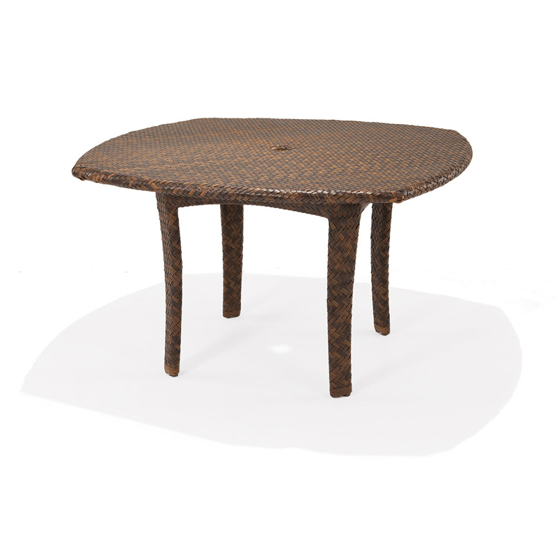 48 round square dining table with umbrella hole krt concepts patio furniture. Black Bedroom Furniture Sets. Home Design Ideas