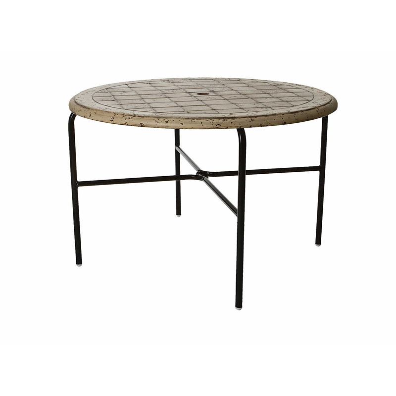 42 Dining Table Cobblestone Fiberglass Top With Hole