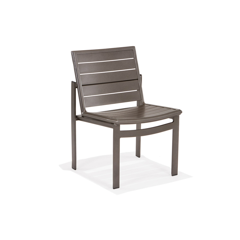 Nesting Dining Chair Aluminum Slat Seat without Arms | KRT ...