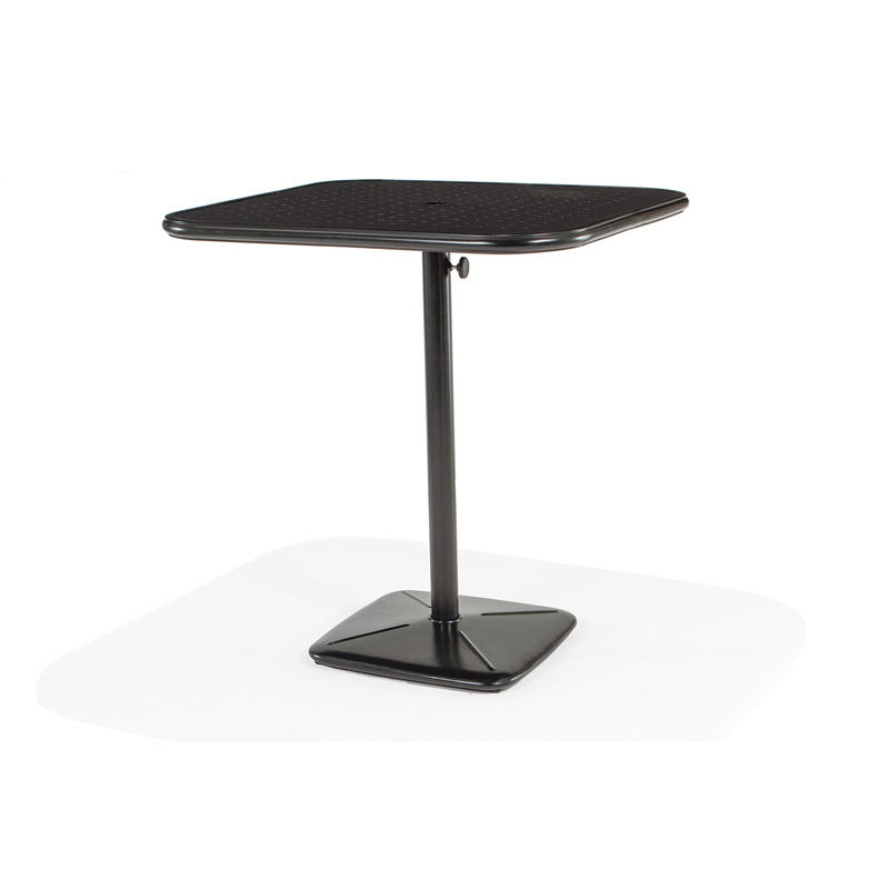 36 Square Bar Cafe Table With Umbrella Hole And Cast Plug